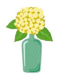 Hydrangea embroidery design