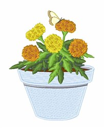 Marigold Butterfly embroidery design