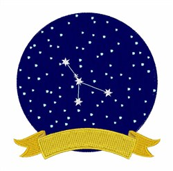 Cancer Constellation embroidery design