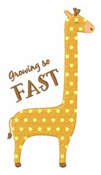Growing Up Fast embroidery design