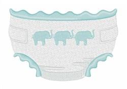 Elephant Diaper embroidery design