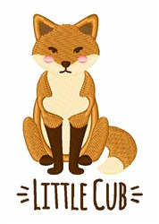 Little Cub embroidery design
