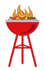 BBQ Grill embroidery design