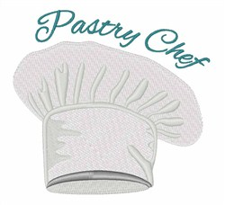 Pastry Chef embroidery design
