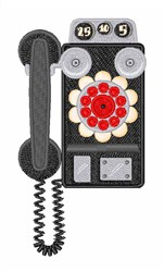 Pay Phone embroidery design