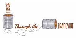 Through Grapevine embroidery design