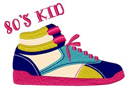 80s Kid embroidery design