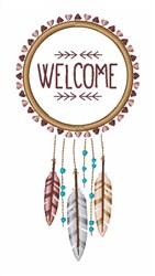 Welcome Dreamcatcher embroidery design