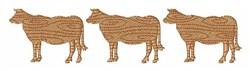 Cow Farm embroidery design