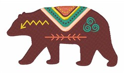 Tribal Bear embroidery design