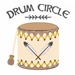 Drum Circle embroidery design