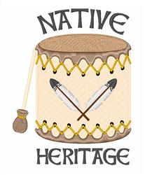 Native Heritage embroidery design
