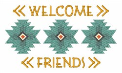 Welcome Friends embroidery design