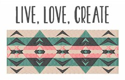 Live Love Create embroidery design