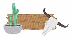 Cactus & Steer embroidery design