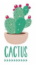 Cactus embroidery design