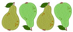 Pear Fruit embroidery design