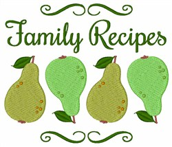 Family Recipes embroidery design