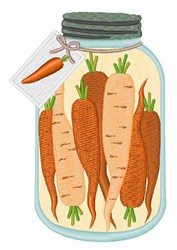 Pickled Carrots embroidery design