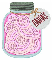 Jar Of  Onions embroidery design