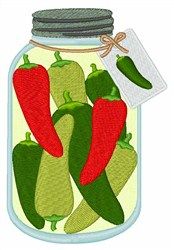 Pickled Peppers embroidery design