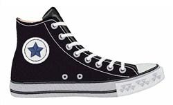 Converse Shoe embroidery design