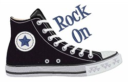 Rock On Shoe embroidery design