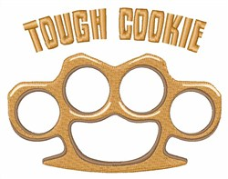 Tough Cookie embroidery design