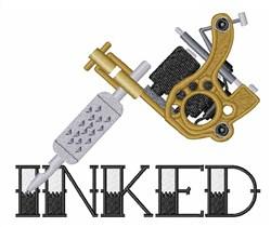 Tattoo Gun Inked embroidery design
