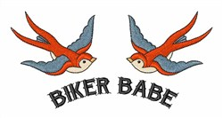 Biker Babe embroidery design