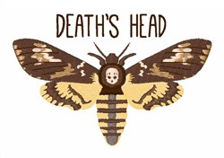 Deaths Head embroidery design