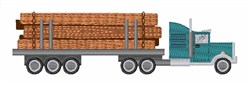 Log Truck embroidery design
