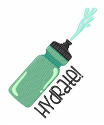 Hydrate Bottle embroidery design