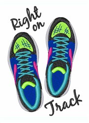Right On Track embroidery design