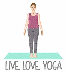 Live Love Yoga embroidery design