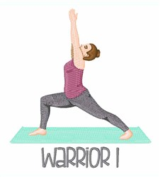 Warrior Pose embroidery design