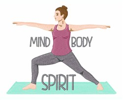 Mind Body Spirit embroidery design