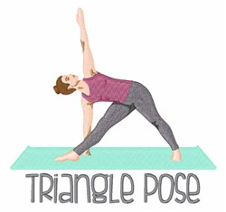 Triangle Pose embroidery design