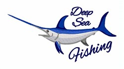 Deep Sea Fishing embroidery design