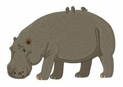 Hippopotamus embroidery design