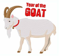 Year Of Goat embroidery design