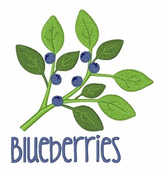 Blueberries embroidery design