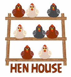 Hen House embroidery design