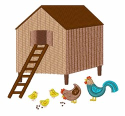 Chicken Coop   embroidery design