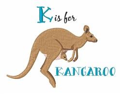 K For Kangaroo embroidery design