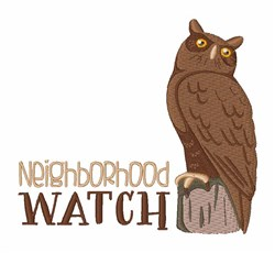 Neighborhood Watch embroidery design