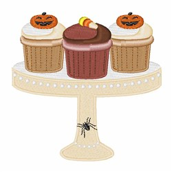 Halloween Cupcakes embroidery design