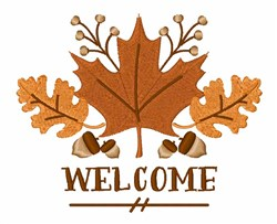 Welcome Leaves embroidery design