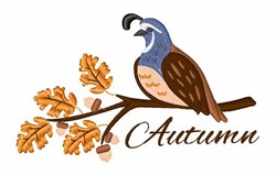 Autumn Partridge embroidery design