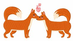 Foxes In Love embroidery design